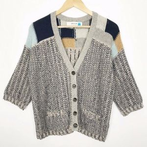 Sparrow Risa Marled Knit Cardigan Sweater Small